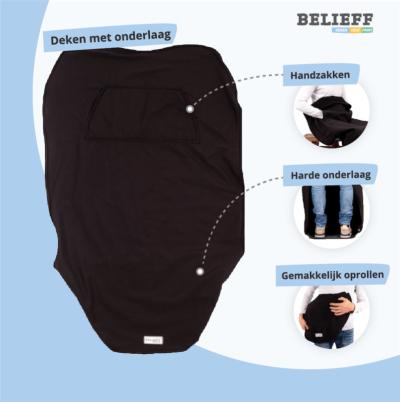 Belieff - Rolstoel onderlaag deken - Uitleg - 2