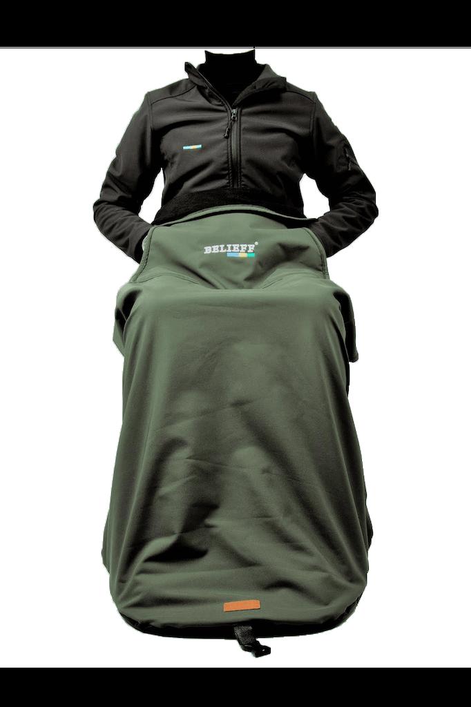 Belieff - Deken met voetenzak - Groen 1